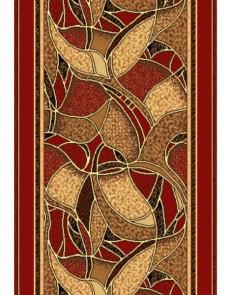 Синтетическая ковровая дорожка Silver 132-22 red Rulon - высокое качество по лучшей цене в Украине.