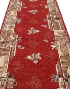 Синтетическая ковровая дорожка Silver  / Gold Rada 300-22 Kantri red - высокое качество по лучшей цене в Украине.
