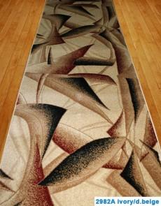 Синтетическая ковровая дорожка Super Elmas 2982A ivory-d.beige - высокое качество по лучшей цене в Украине.