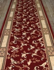 Синтетическая ковровая дорожка Super Elmas 2511C red-ivory - высокое качество по лучшей цене в Украине.