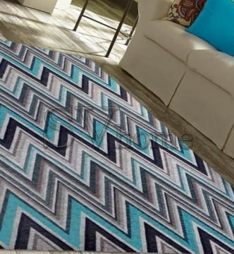 Безворсовый ковер Almina 127517 5-Grey/Turquaz - высокое качество по лучшей цене в Украине.