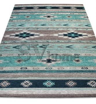 Безворсовый ковер Almina 127574 01-Grey/Turquaz - высокое качество по лучшей цене в Украине.