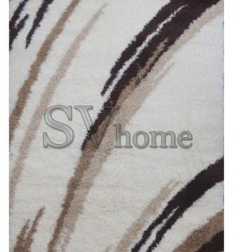 Високоворсна килимова доріжка First Shaggy 1198 , CREAM - высокое качество по лучшей цене в Украине.