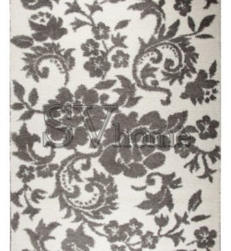 Высоковорсный ковер Missipy 9 384 , GREY WHITE - высокое качество по лучшей цене в Украине.