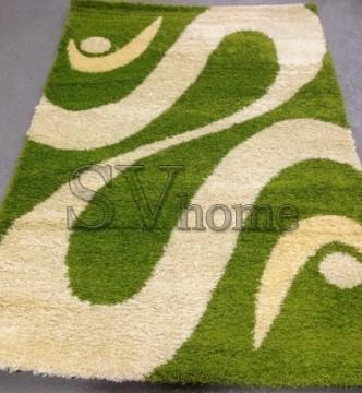 Высоковорсный ковер Shaggy 0731 зеленый - высокое качество по лучшей цене в Украине.