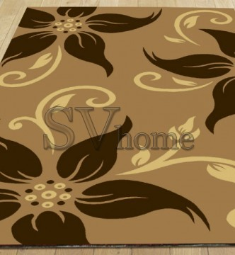 Синтетический ковер Legenda 0331 ромашка беж - высокое качество по лучшей цене в Украине.