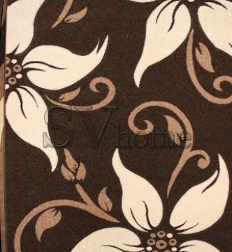 Синтетический ковер Legenda 0331 ромашка коричневый - высокое качество по лучшей цене в Украине.