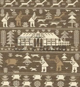 Шерстяной ковер Folk Polowanie Beż - высокое качество по лучшей цене в Украине.
