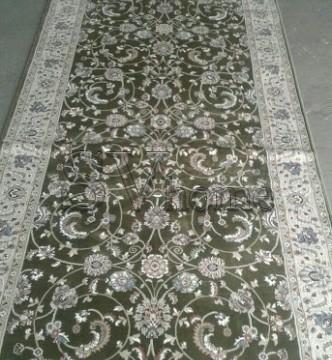 Высокоплотная ковровая дорожка Ottoman 0917 зеленый - высокое качество по лучшей цене в Украине.