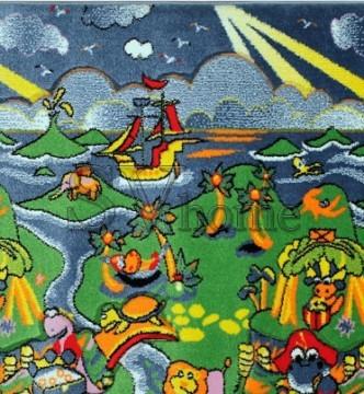 Дитяча килимова доріжка Rainbow 02157 green - высокое качество по лучшей цене в Украине.
