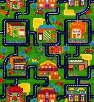 Детская ковровая дорожка Baby 6046 Yeshil-Lacivert  - высокое качество по лучшей цене в Украине.